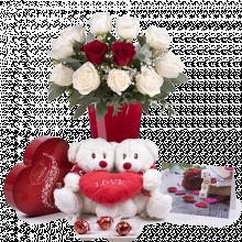 Amor Sin Límite: Pack Rosas Blancas y Osito