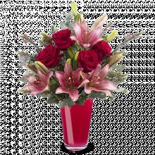 Romance Unique : Roses et Lys