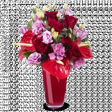 Amore Vero: Rose e Lisianthus