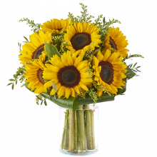 Pure Vitality: Sunflowers and Solidago