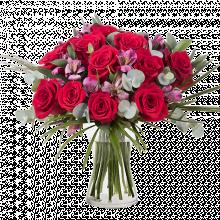 Trendy: Róże i Alstromeria
