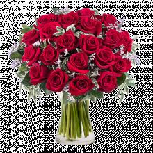 Reine de Cœur : 20 Roses Rouges