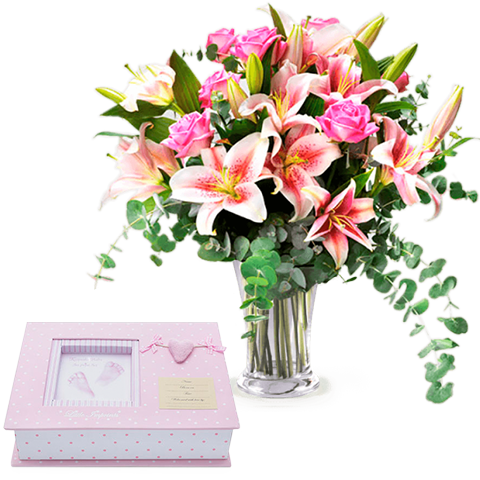 Pink fingerprints and lilies