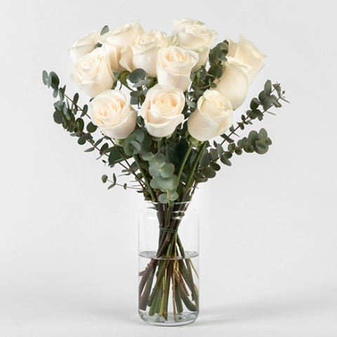 One More Time: white roses